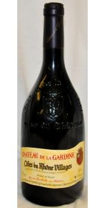 Chateau de la Gardine - Côtes du Rhône Villages - 2014. 14.5% - Red Wines - Côtes-du-Rhône Wines - French Wines - Wines - M&M Personal Vintners Ltd