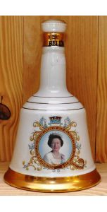 Bell's - Ceramic bell decanter - Blend - Queen 60th 1986 - 750 ml - 43% vol - Whiskey - M&M Personal Vintners Ltd