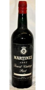 Martinez Vintage Port - 1963 - Port Wines - Port & Sherry - M&M Personal Vintners Ltd