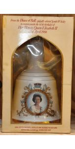Bell's - Ceramic bell decanter - Blend - Queen's 60th 1986 - 750 ml - 43% vol - Whiskey - M&M Personal Vintners Ltd