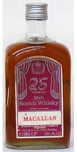 """1952 - 1977 Macallan 25 Year Old """"The Queen's Silver Jubilee"""" - Whiskey - M&M Personal Vintners Ltd"""